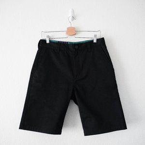 MISHKA MNWKA Mens Black Chino Shorts NWOT Size 30
